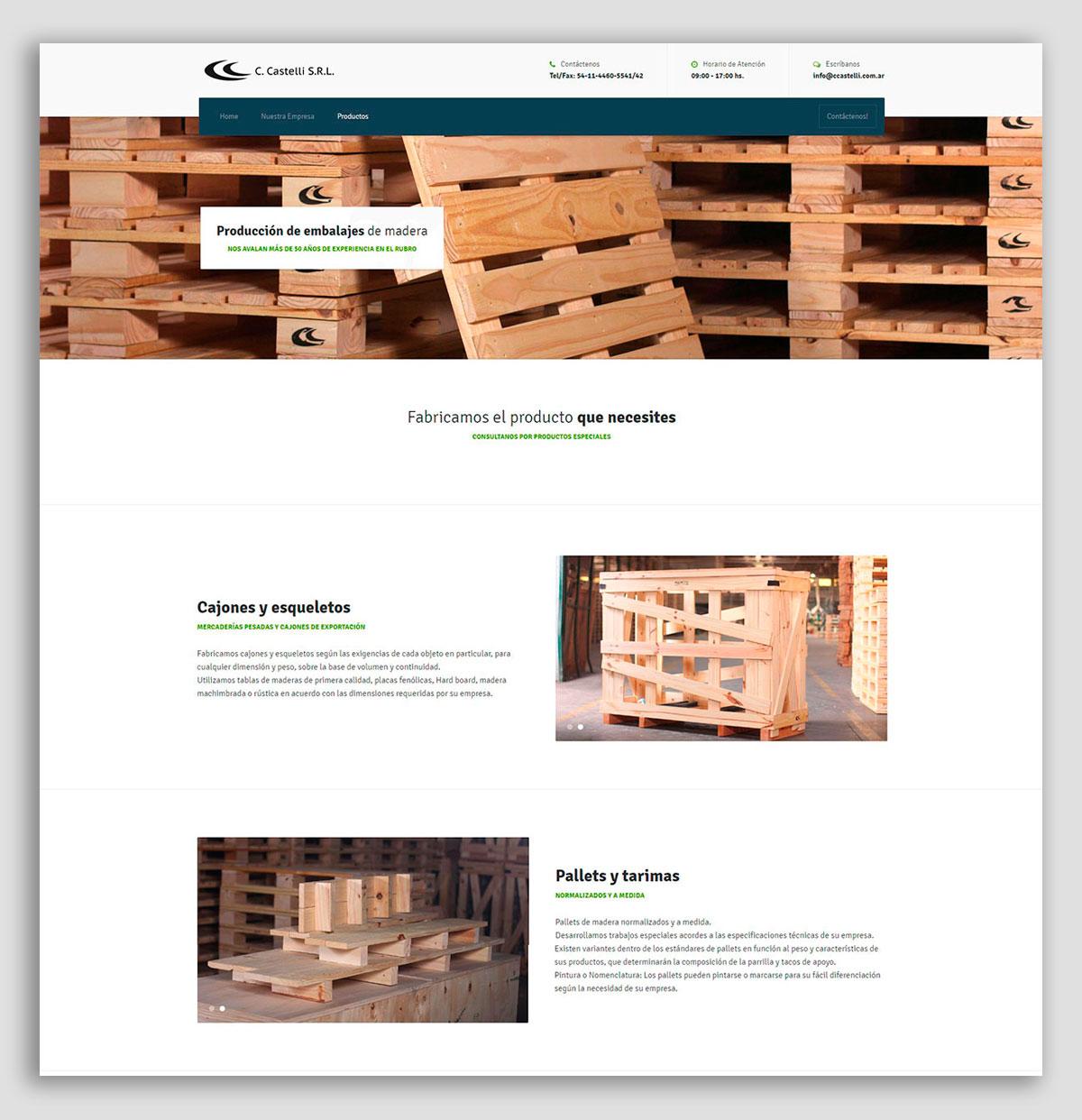 sitio web fabrica de pallets